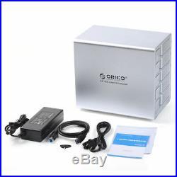 ORICO 9558U3 5Bay 3.5 USB3 SATA External Enclosure HDD Docking Station (Silver)