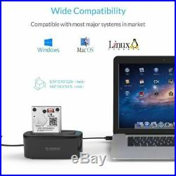 ORICO USB 3.0 SATA III Hard Drive Docking Station UASP for 2.5/3.5 Inch HDD/SSD