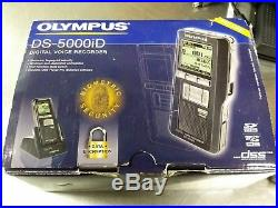 Olympus DS-5000iD Digital Voice Dictation Recorder & AS-2400 Transcription Kit