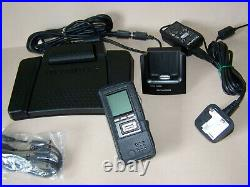 Olympus DS 5500 Mobile Dictation Kit Bundle, CR10, A517, RS31H, case, 4gb SD