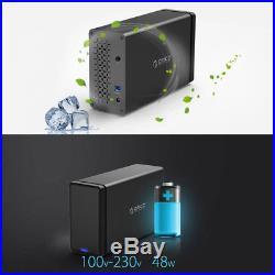 Orico 2 Bay USB HUB 3.0 SATA Hard Drive Dock HHD Docking Station with Raid Black