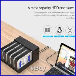 Orico 6558Us3-C 5 Bay Super Speed Usb 3.0 HDD Docking Station Tool Free Usb H3Z7