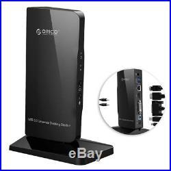 Orico Universal USB 3.0 Hub Docking Station HDMI/LAN/DVI/MIC for Computer/PC/MAC