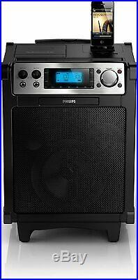 Philips AZP6/12 Portabler Lautsprecher mit Dockingstation Verstärker-Funktion
