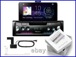 Pioneer SPH-20DAB 1 DIN Smartphone Radio DAB BT Set für Peugeot 1007 schwarz