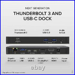 Plugable Thunderbolt 3 and USB C Docking Station with 96W Charging