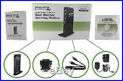 Plugable USB 3.0 Universal Laptop Docking Station for Windows
