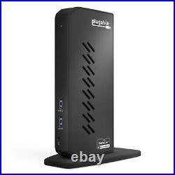 Plugable USB 3.0 and USB-C Dual 4K Display Docking Station with DisplayPort & HDMI