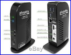 Plugable USB-C 4K Triple Display Docking Station with Charging Support for Speci