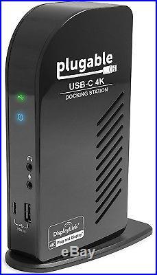 Plugable USB-C 4K Triple Display Docking Station with Charging for USB C/TB3