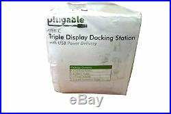 Plugable USB-C 4K Triple Display Docking Station with pd charging for USB type-c