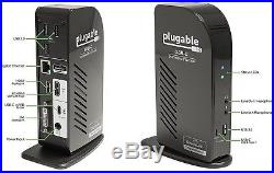 Plugable USB-C Triple Display Docking Station with Charging Support 2xHDMI 1xDVI