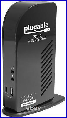 Plugable USB-C Triple Display Docking Station with Charging Support/Power