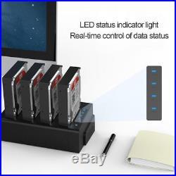 SATA USB3.0 Four Bay Hard Drive Disk HDD Docking Station Offline Duplicator Box
