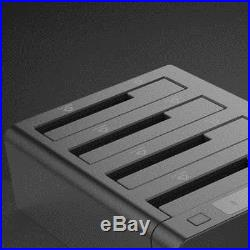 SATA USB3.0 Four Hard Drive HDD Dock Station Offline Copy Clon Duplicator Box
