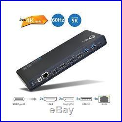 SIIG USB-C (Type C) 4K Dual Video Docking Station Dual 4K@60HZ Single 5