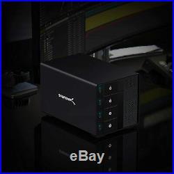 Sabrent USB 3.2 4-Bay 3.5 SATA Hard Drive Tray-Less Docking Station DS-SC4B