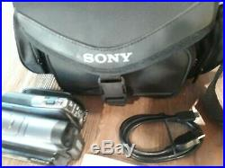 Sony HDR-SR12 120 GB Handycam Camcorder with Docking Station Tested Working