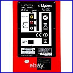 Sound Tower Turm Fernbedienung Dockingstation Ipod Iphone USB BigBen Glossy Red