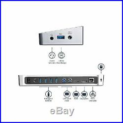 StarTech. Com Dual Monitor KVM Docking Station, for Two Laptops, 4K File Tra