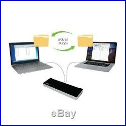 StarTech. Com Dual-Monitor KVM USB 3.0 DockingStation for Two Laptop -FileTranfer