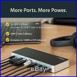 StarTech. Com Dual-Monitor USB-C Dock for WindowsLaptop Docking Station4K MST