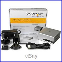 StarTech. Com HDMI and DVI Dual-Monitor Docking Station for Laptops Single 4K S