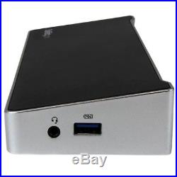 StarTech. Com Triple-4K Monitor USB-C Docking Station for Laptops (Black/Silver)
