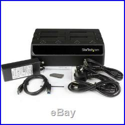 StarTech. Com USB 3.0 to 4-Bay SATA 6Gbps Hard Drive Docking Station with UASP & Du