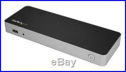 StarTech. Com USB-C Dual-4K Monitor Docking Station for Laptops (Silver/Black)