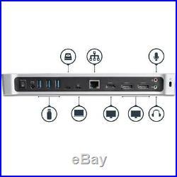 StarTech Triple Monitor 4K USB-C Dockingstation mit 5x USB 3.0 Ports Multiport