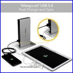 StarTech USB3SDOCKDD Universal USB 3.0 Laptop Docking Station with Dual DVI Video
