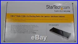 Startech. Com Usb C Docking Station Triple-4k Pd (dk30ch2dppd)