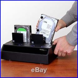 Startech SDOCK4U33E 4 Bay Docking Station 2.5 3.5 SSD HDD eSATA USB SATA 6Gbps