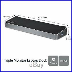 Startech USB 3.0 Triple Monitor Docking Station Compatible with Windows / macO