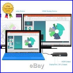 Surface Dock Hub- HDMI Display, Ethernet amp USB 2.0/3.0 Ports Docking Station