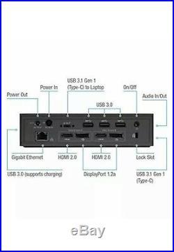 Targus USB-C Universal DV4K Docking Station with 100W Power, Black (DOCK190EUZ)