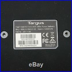 Targus USB-C Universal Quad 4K (QV4K) Docking Station DOCK570