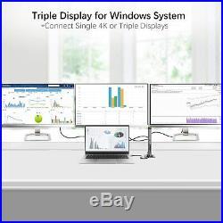 Thunderbolt 3 USB C Docking Station, Dual Monitor for Windows Laptop PC MacBook