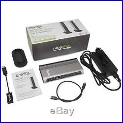 Thunderbolt 5 USB 3 Dock With Charging For MacBook Pro Docking Station Black