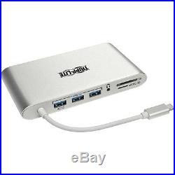 Tripp Lite USB-C Docking Station USB-A USB Type-C DVI HDMI VGA DP mDP Gbe USB