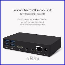 Type-C Docking Station 6 USB3.0-A PD RJ45 Gigabit Network HDMI 4K Expansion US