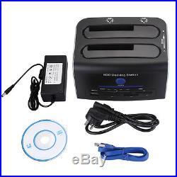 USB 3.0 Dual Bay HDD Docking Station SATA eSATA OTB Hard Drive Card Reader