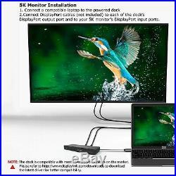USB C 4K Docking Station with 60W Power Delivery Dual Display HDMI & DisplayPort