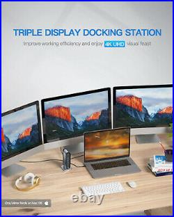 USB-C 4K Triple Display Docking Station, Baseus USB C Dock Universal Docking 3