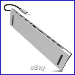 USB C Docking Station Multiple Port HDMI/VGA/SD/TF/Mini DP/RJ45/USB