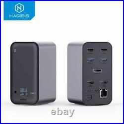 USB C Docking Station Triple display Type C to 4K HDMI VGA DP for Windows MacOS
