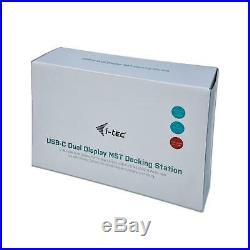 USB-C Dual Display MST Docking Station 1x HDMI 1x DisplayPort 1x GLAN Ethernet