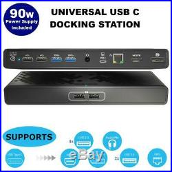 USB C Universal Docking Station with Laptop Power Delivery with 90W
