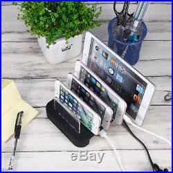 USB Charging Station Dock Desktop Multiple Charger Cell Phone Docking Station